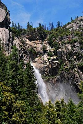 Photograph - Yosemite Waterfall Green View Vertical by Matt Harang