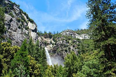 Photograph - Yosemite Waterfall Luscious Green Landscape  by Matt Harang