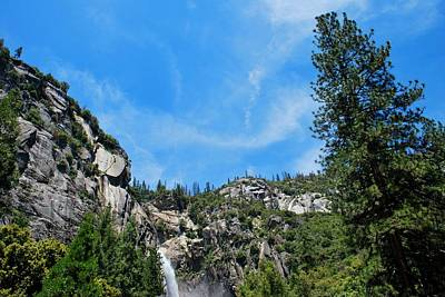 Photograph - Yosemite Waterfall Trees And Sky View by Matt Harang