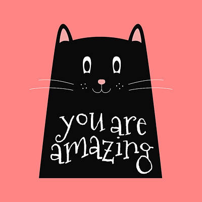 Drawing - You Are Amazing - Baby Room Nursery Art Poster Print by Dadada Shop