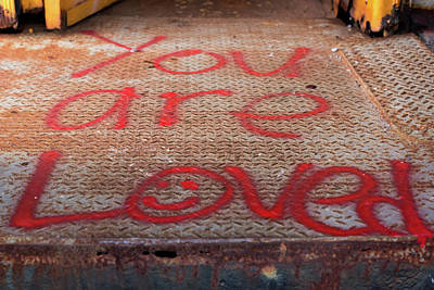 Photograph - You Are Loved Graffiti  by Terry DeLuco