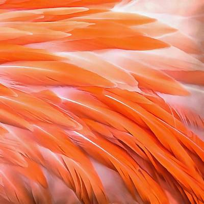 Painting - You Are What You Eat Flamingo Feathers by Taiche Acrylic Art