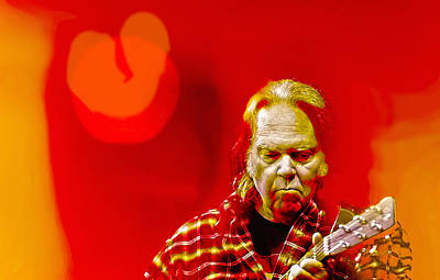 Neil Young Wall Art - Digital Art - You Keep Me Searching by Mal Bray