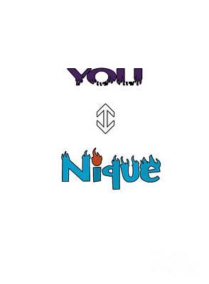 Digital Art - You Nique by Judy Hall-Folde