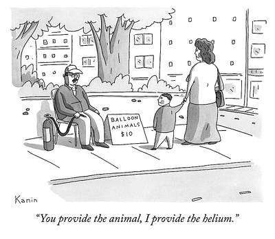 Drawing - You Provide The Animal by Zachary Kanin
