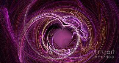 Animal Paintings David Stribbling - Abstract Digital Artwork of You touched my heart by Roy Jacob
