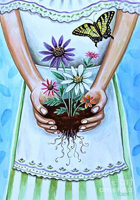 Painting - You Will Grow, I Will Grow.  Without Words by Elizabeth Robinette Tyndall