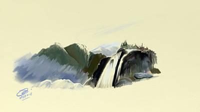 Digital Art - Youkon Doodle by Joel Deutsch