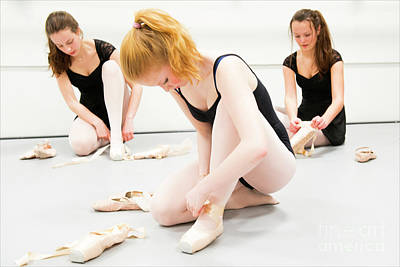 Photograph - Young Ballet Dancers by Guido Koppes