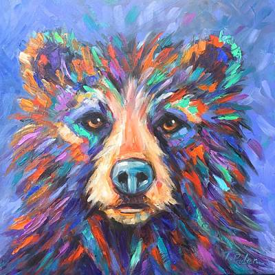Wall Art - Painting - Young Bear by Theresa Paden