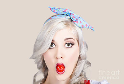 Photograph - Young Beautiful Woman Holding A Bottle Cap In A Mouth by Jorgo Photography - Wall Art Gallery