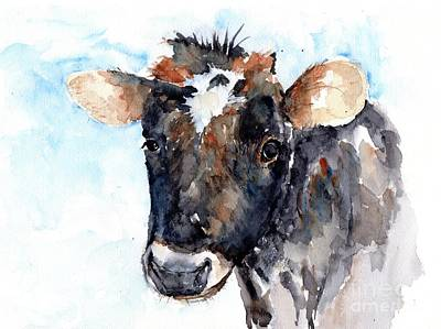 Painting - Young Cow by Claudia Hafner