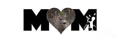 Photograph - Young Doe In Heart With Little Girl Mom Big Letter by Colleen Cornelius