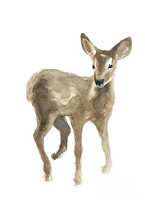 Painting - Young Fawn Without Spots by Joanna Szmerdt