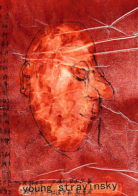 Relief - Young Igor Stravinsky Almost Monocle by Artist Dot