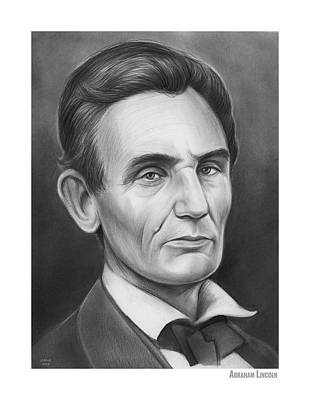 Politicians Drawings - Young Lincoln Lawyer by Greg Joens
