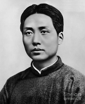 Photograph - Young Mao Tse Zedong by Chinese School