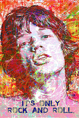Digital Art - Young Mick by Gary Grayson