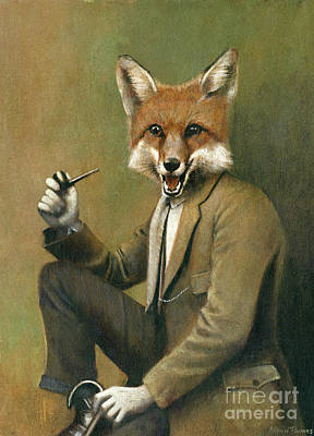 Surrealism Royalty Free Images - Young Mr Fox Royalty-Free Image by Michael Thomas