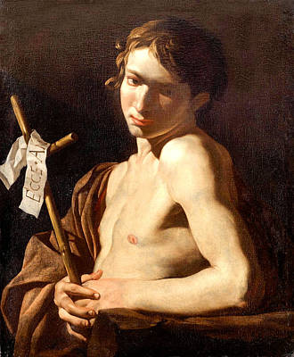 Painting - Young Saint John The Baptist  by Matthias Strom
