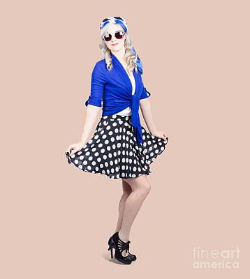 Photograph - Young Stylish Pinup Woman Posing For Photo by Jorgo Photography - Wall Art Gallery