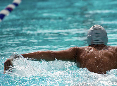 Photograph - Young Swimmer From  Behind by Juanmonino