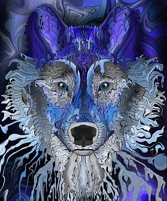 Digital Art - Young Wolf by Mark Taylor