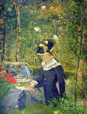 Painting - Young Woman At The Entrance Of The Bellevue Garden  Marguerite by Edouard Manet