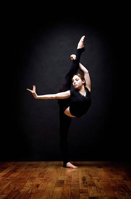 Hand Photograph - Young Woman Dancing by David Sacks