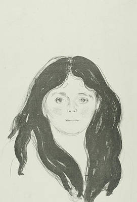 Relief - Young Woman From The Latin Quarter by Edvard Munch