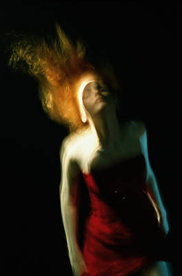 Photograph - Young Woman In Red Dress, Floating by Zena Holloway