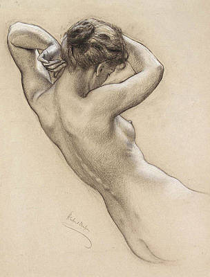 Painting - Young Woman Nude By Herbert James by Fine Art Images