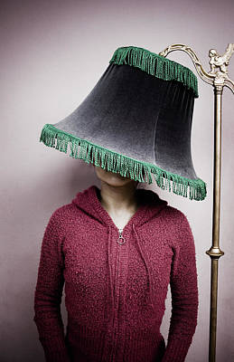 Photograph - Young Woman Under A Lampshade by Holly Wilmeth