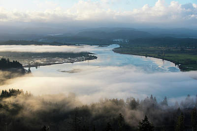 Photograph - Young's River With Fog by Tom Cochran
