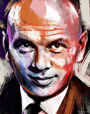 Train Paintings Rights Managed Images - Yul Brynner Royalty-Free Image by Stars on Art