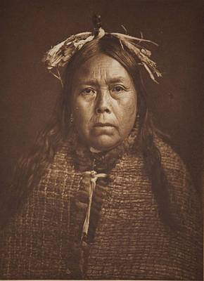 Painting - Yumqas   Mamalelekala 1914 By Edward Sheriff Curtis by Celestial Images