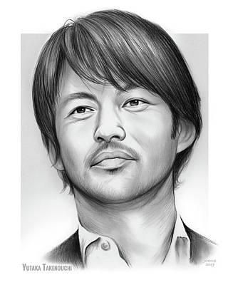 Drawings - Yutaka Takenouchi by Greg Joens