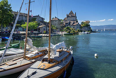 Photograph - Yvoire, Lac Leman by Arterra Picture Library