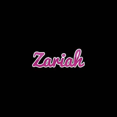 Digital Art - Zariah #zariah by Tinto Designs
