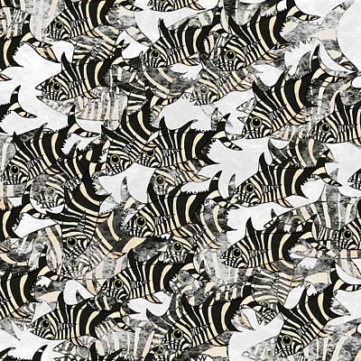 Wall Art - Mixed Media - Zebra Fish 10 by Joan Stratton