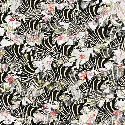 Wall Art - Mixed Media - Zebra Fish 11 by Joan Stratton