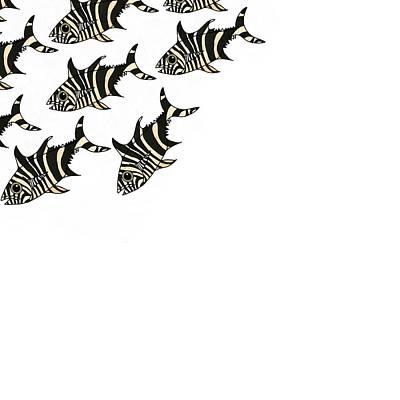 Wall Art - Mixed Media - Zebra Fish 3 Of 4 by Joan Stratton