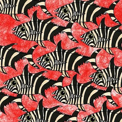 Zebra Fish 5 Art Print