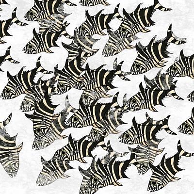 Wall Art - Mixed Media - Zebra Fish 9 by Joan Stratton