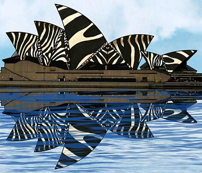 Girl Wall Art - Mixed Media - Zebra Opera House 4 by Joan Stratton