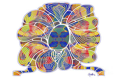 Digital Art - Zen Flower Abstract Meditation Digital Mixed Media Art By Omaste Witkowski by Omaste Witkowski