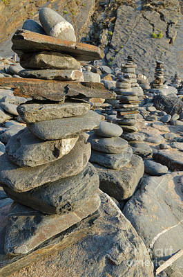 Photograph - Zen Pebbles Towers by Angelo DeVal