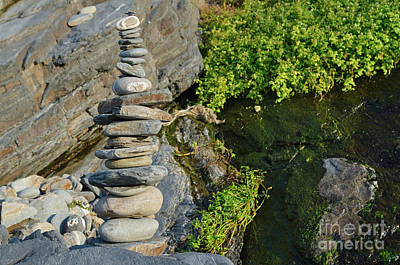 Photograph - Zen Tower With Pebbles 2 by Angelo DeVal