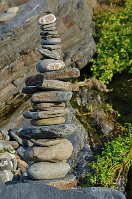 Photograph - Zen Tower With Pebbles by Angelo DeVal