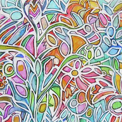 Painting - Zentagle Garden by Jean Batzell Fitzgerald